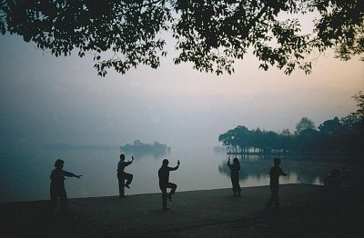In China you often see Tai Chi performed in parks